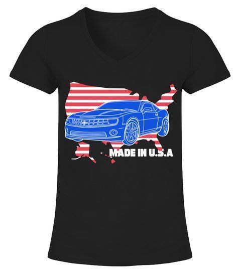 Classic Cars Made in USA – T-Shirt mit V-Ausschnitt Damen #Shirts #TShirts   – T…