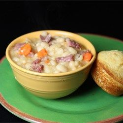 Basic Ham and Bean Soup - Allrecipes.com -- Make sure to review the comments for suggested changes.