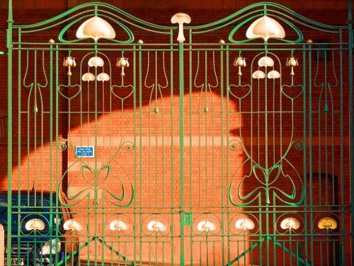 Nottingham station's Art Nouveau gates, Nottingham, UK, built 1903-1904.