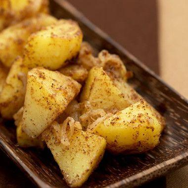 Gewokte aardappels met garam massala