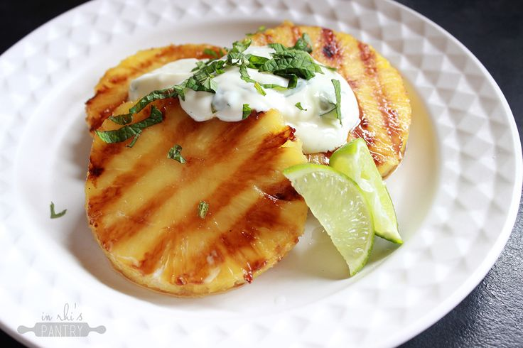 Grilled Pineapple with Minted Lime Yoghurt ♥ In Rhi's Pantry - nzgirl