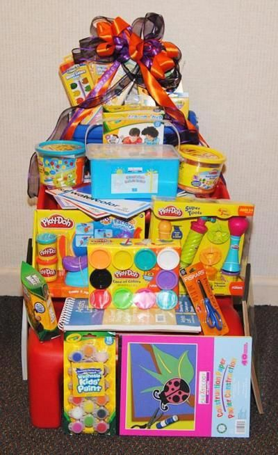 Silent Auction Ideas Kids Craft Basket Giftideasforkids Silent