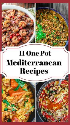 11 Mediterranean One Pot Recipes | The Mediterranean Dish. From Greek Avgolemono to Italian Minestrone; Chickpea Stew; Lentil Soups; Shrimp Stew; Roasted Carrot Soup and many more! Delicious Mediterranean Weeknight Recipes for colder weather! There is something for everyone on this list! Vegan; Gluten Free; and even meat lovers! See all the recipes on TheMediterraneanDish.com