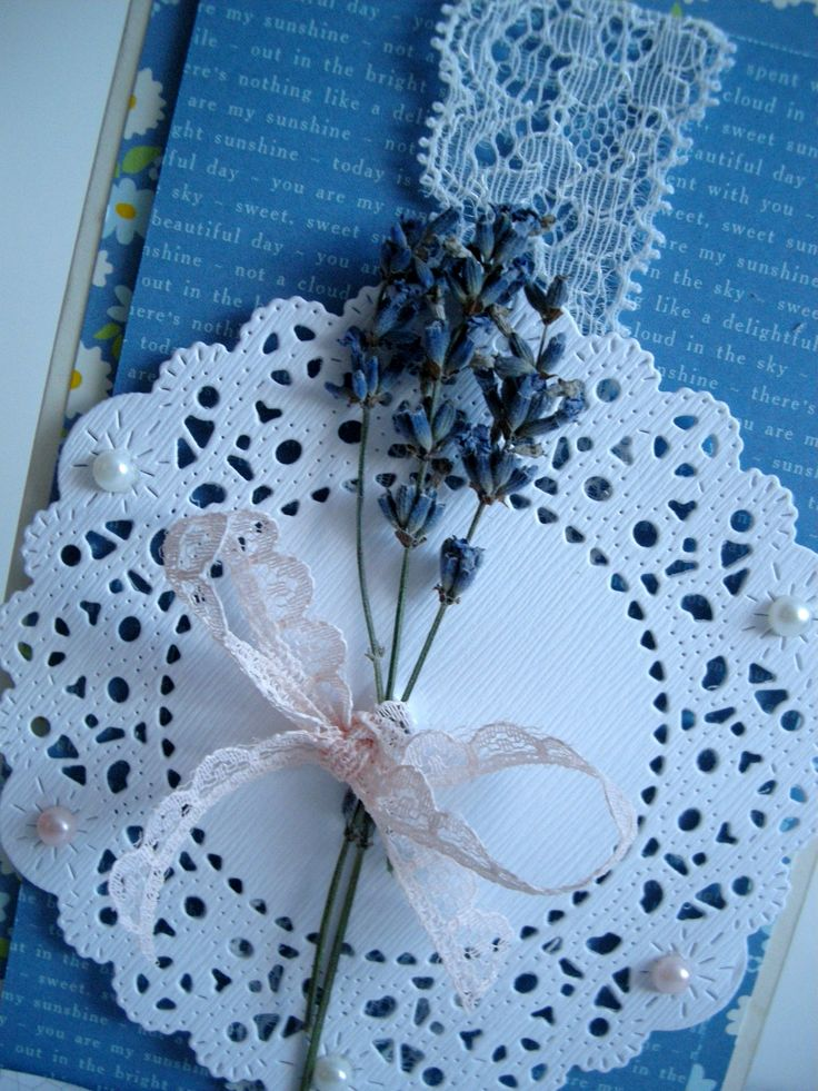 blue, delicate card