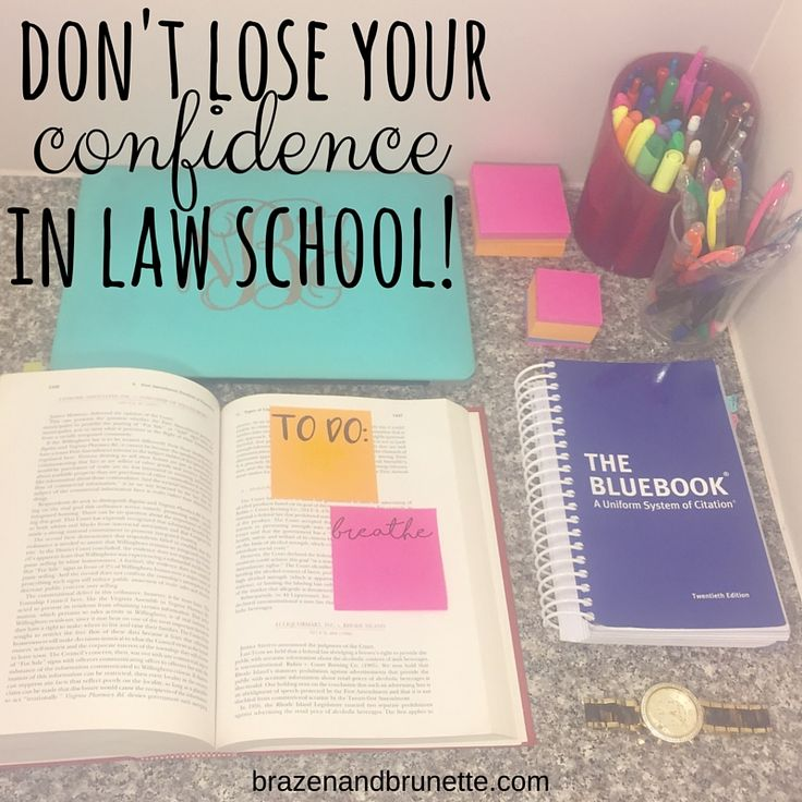 Don't let yourself be defeated when law school gets hard | brazenandbrunette.com