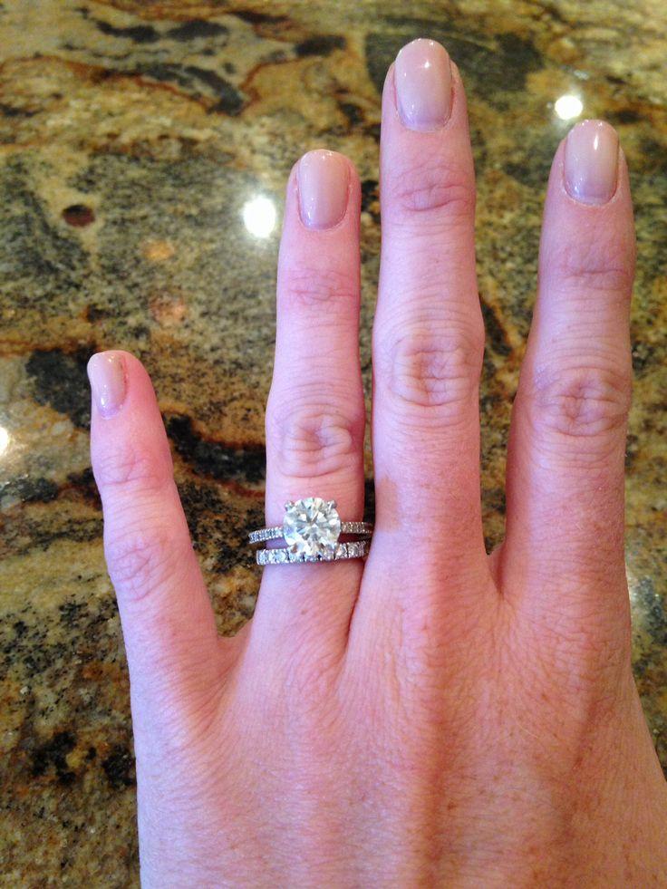 Gorgeous Engagement Ring And Wedding Band Set 25 Carat