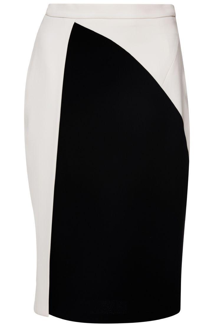 Siyah & Beyaz Asimetrik Etek