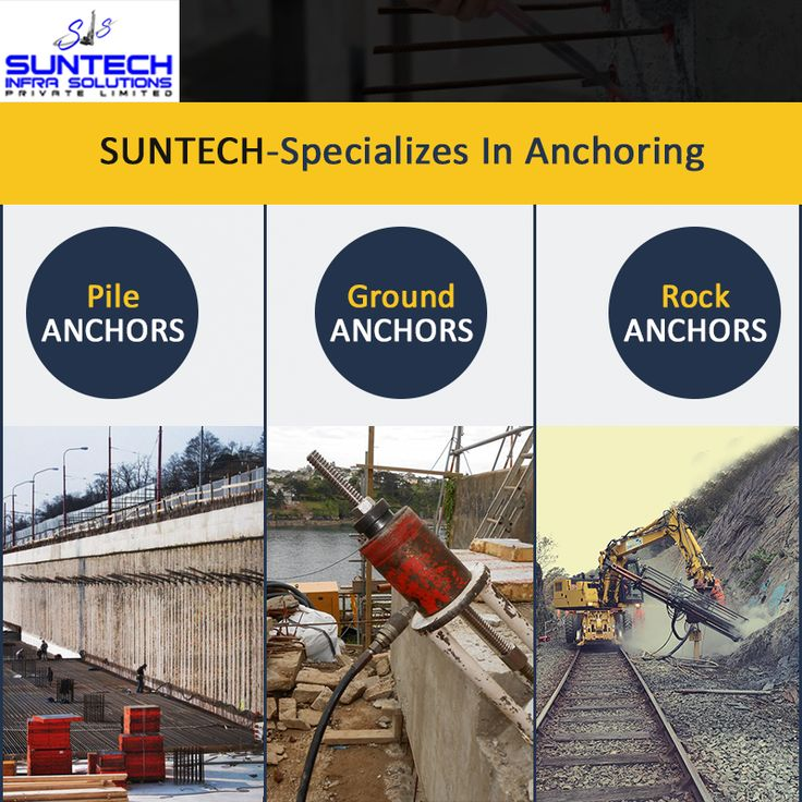 Suntech is renowned for providing some of the most cost effective and innovative anchoring solutions to the construction and Civil Engineering industries.Contact Suntech Infra Solutions Pvt Ltd at +91-9871281838 for discussing your anchoring requisites. #suntechinfra #pileanchoring #rockanchoring #groundanchoring #anchor #expert #construction