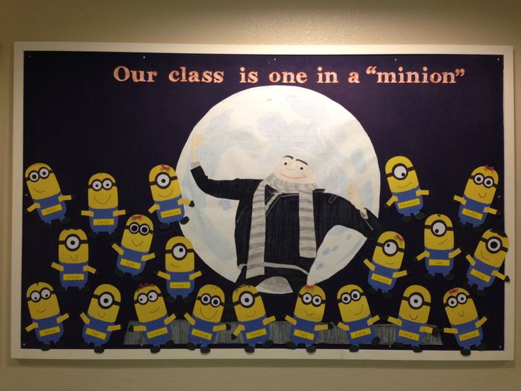Back To School Board Our Class Is One In A Minion
