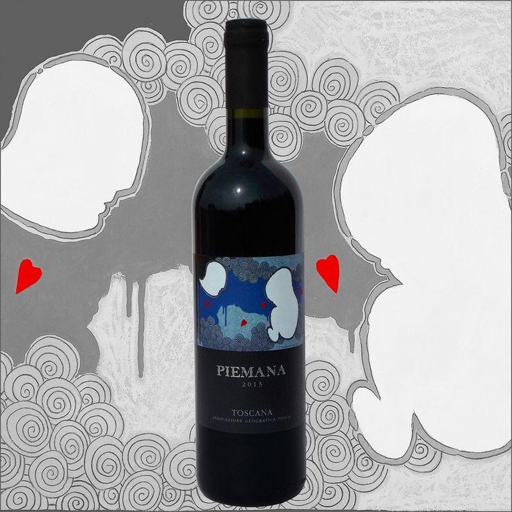 andrea mattiello etichetta bottiglia vino Piemana 2013 #andreamattiello #artista #artistaemergente #vino #wine #bottiglia #bottle #piemana #etichetta #etichettavino