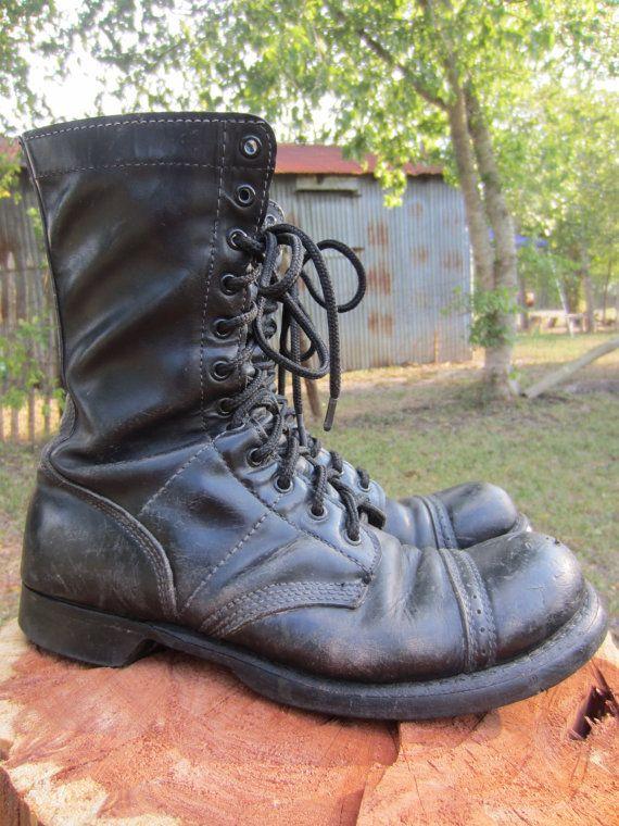 60s Vietnam Era Corcoran Combat Boots, US 9.5 EUR 43 UK 9 // 60s Military Jump Boots
