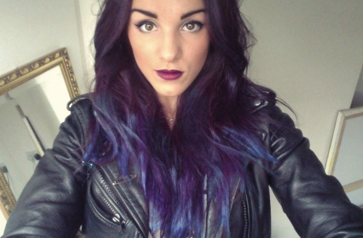 Girl (Abbie Fowler) With Dip-Dyed Hair - Dark Purple With ...