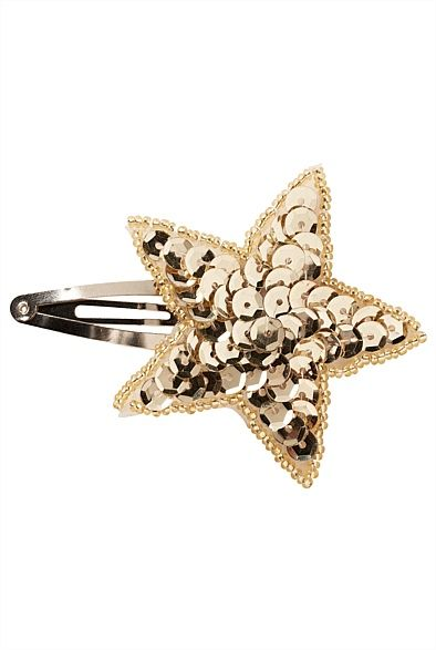 Sequin Star Hair Clip from @Witchery #MacquarieCentre #Christmas #forher #girly #stockingstuffer