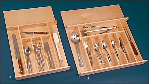 Wooden Cutlery Trays - Hardware sm $39.50 lg $48.50