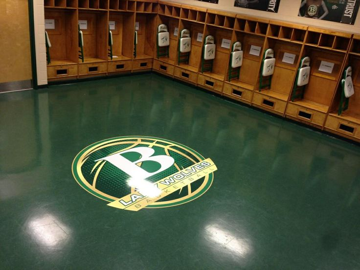 Buford Basketball locker room  floor graphic  CEJ Signage  Basketball Basketball floor