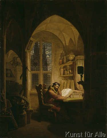 Georg Friedrich Kersting - Faust im Studierzimmer
