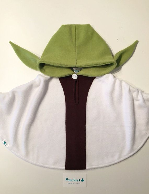Ponchies For Kids - Yoda | Star Wars Fleece Poncho  This poncho is a made of a soft polar fleece to keep your little one warm, cozy and having
