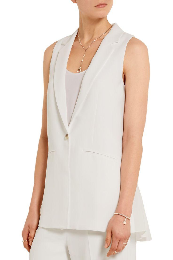 Shop on-sale Elizabeth and James Garnet silk chiffon-paneled crepe vest. Browse other discount designer Jackets & more on The Most Fashionable Fashion Outlet, THE OUTNET.COM