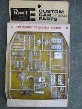 VINTAGE REVELL 1958 CHRYSLER V-8 ENGINE 1/25 MODEL CUSTOM CAR PARTS KIT MINT BOX