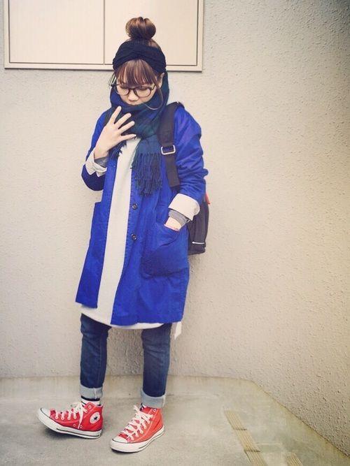 アースの青いショップコート、フリマに 出品していますꉂ ꉂ (﹡ˆoˆ﹡)