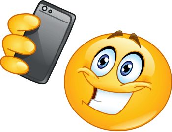 If you like taking selfies, this smiley might be perfect for you to share in your next status update. Get to know all of our cool smileys and share a few every day.