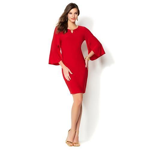 IMAN Global Chic Luxury Resort Flutter-Sleeve Dress - Purple
