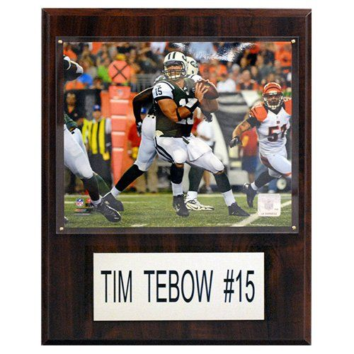 C and I Collectables NFL 15W x 12H in. Tim Tebow New York Jets Player Plaque - 1215TEBOWJETSH