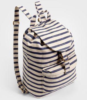 Fancy - FredFlare.com - Baggu Sailor Striped Backpack - Shop All Baggu Now