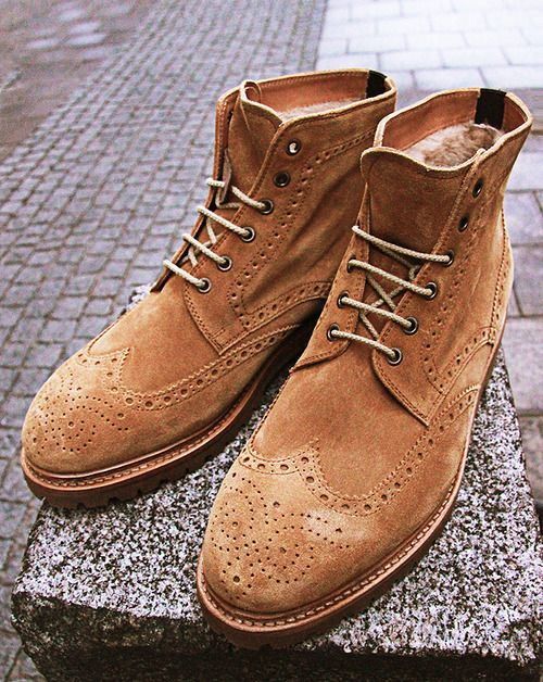 Love these lined suede boots