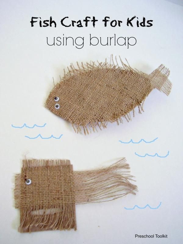 Burlap Fish Craft for Kids to try and have fun this summer!