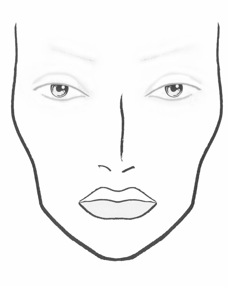 Punchy image in makeup face template printable