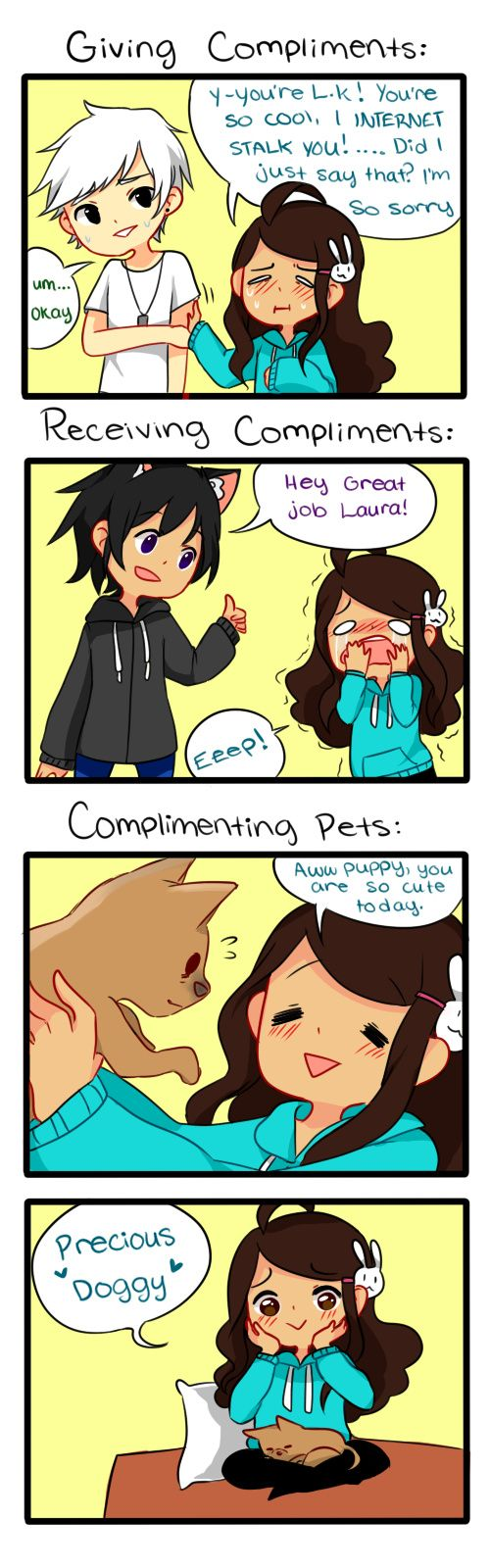 """Check out the comic """"Anti-Social Media :: 5: Compliments"""" http://tapastic.com/episode/101714"""