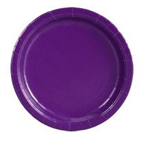 """Bulk Purple Paper Party Plates, 9"""", 20-ct. Packs at DollarTree.com $1.00 for 20 plates!"""