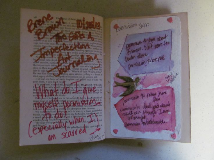 The Gifts of Imperfection - Art Journal - Lesson One - Giving ...