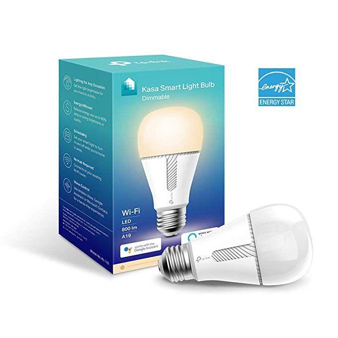 Tp Link Kasa Smart Wi Fi Led Light Bulb Kl110 A19 60w Equivalent Dimmable Smart Light Bulbs Light Bulb Smart Lighting