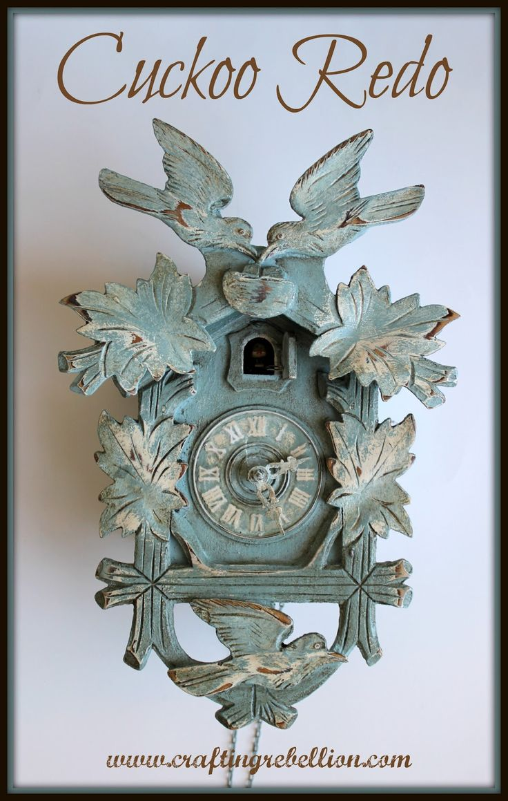 white painted cuckoo clock | me cuckoo but i wanted to try painting and distressing a cuckoo clock ...