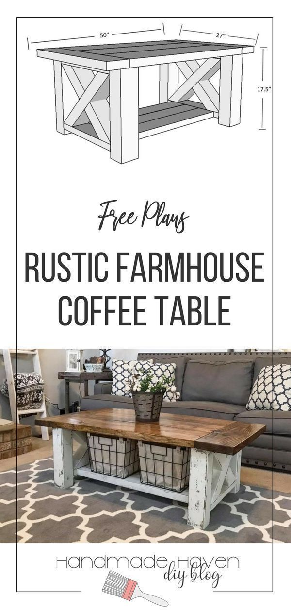 Chunky Farmhouse Coffee Table #woodworkingplans