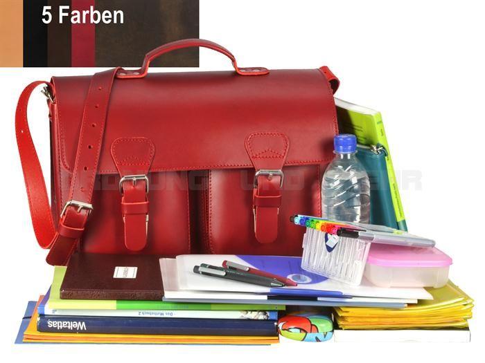 ruitertassen - Sattelleder Lehrertasche kleine Aktentasche Umhängetasche Old Style - 5 Farben