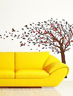 Wall Stickers Wall Decals,  Modern The bird tree PVC Wall Stickers