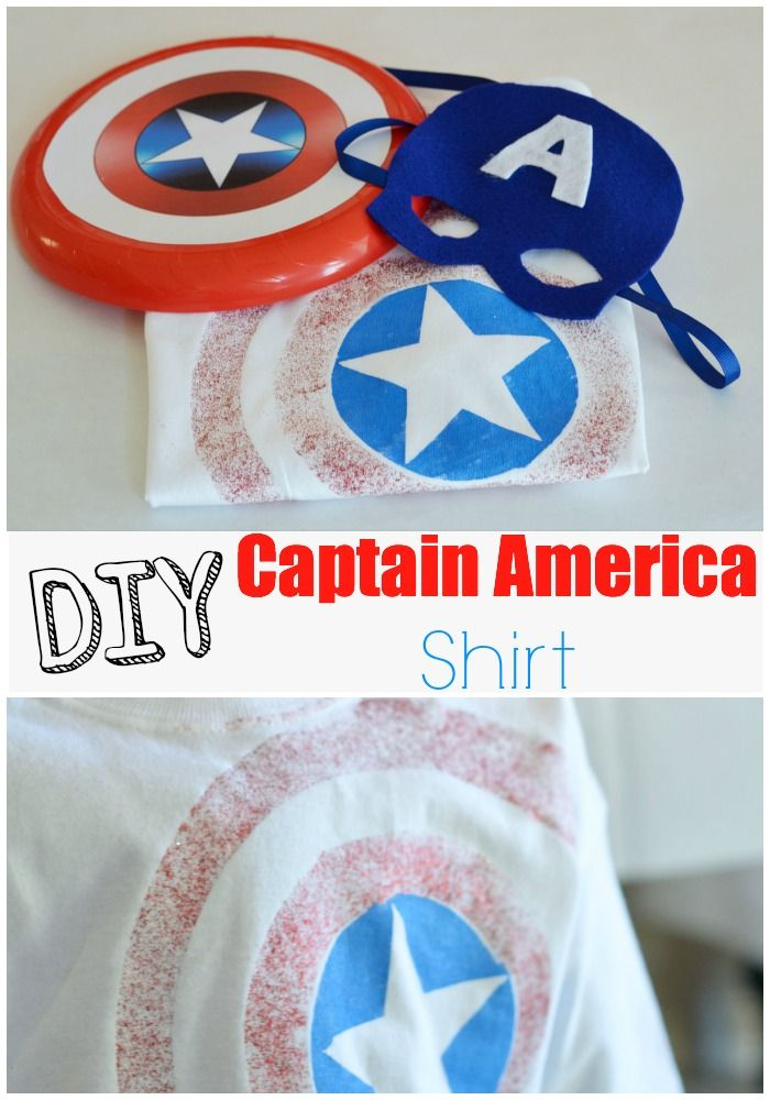 DIY Captain America Shirt- inexpensive party favor or activity.