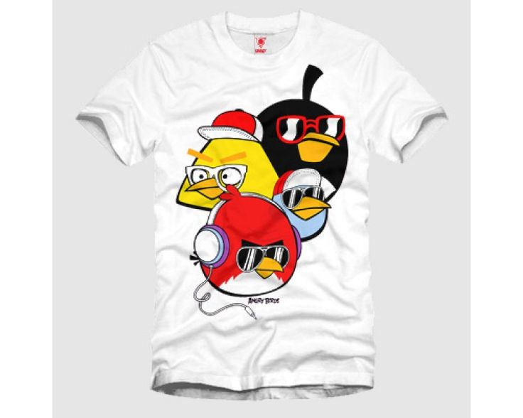 Angry Birds Headphone Tshirt
