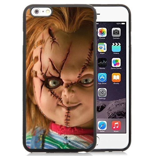 Easy Set,Customized Iphone 6 Plus Case Design with Scary Chucky Doll Iphone 6 Plus TPU 5.5 Inch Black Cell Phone Case. High quality vibrant print that will not fade, scratch or degrade over time. Perfectly protect your phone from the scratch and shock. St