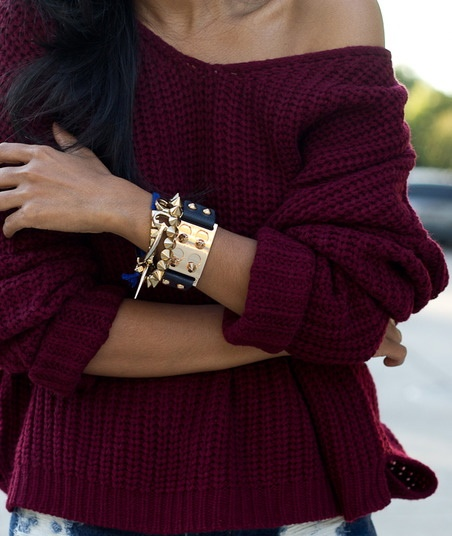 Burgundy and gold. uh duh