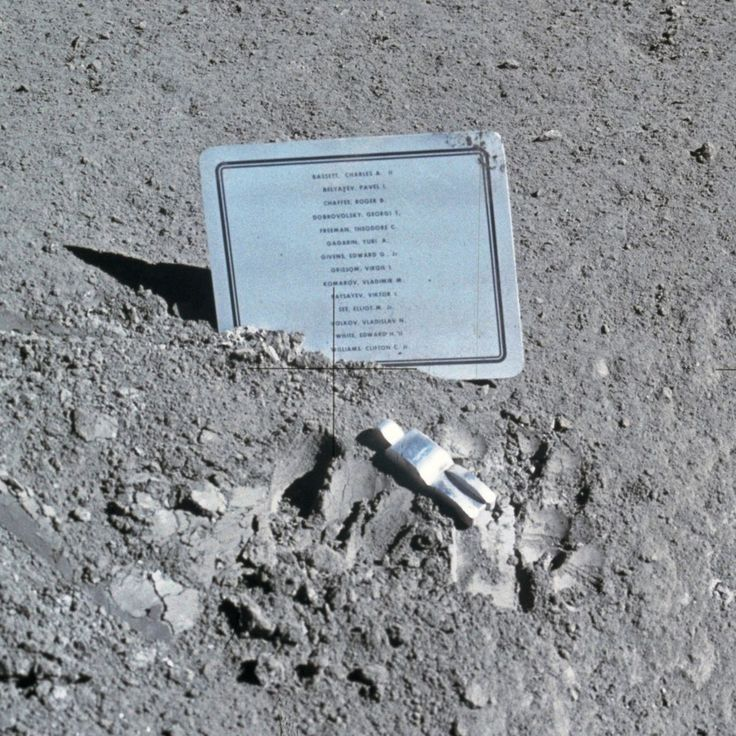 TIL that in 1971 the U.S. left a memorial on the Moon for every astronaut who died in the pursuit of space exploration including Russian Cosmonauts