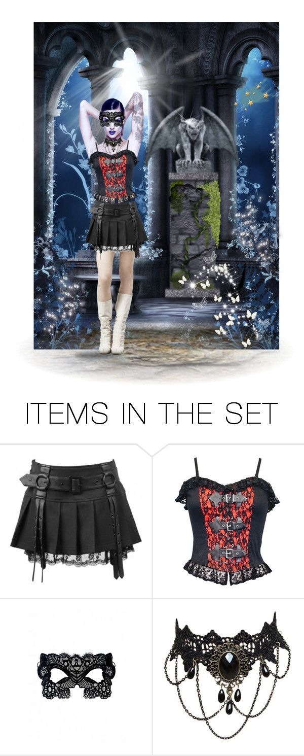 """""""Modern Goth"""" by chileez ❤ liked on Polyvore featuring art and modern"""