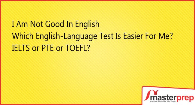 English is not everyone's cup of tea but you need to be good enough to clear English proficiency test with an impressive band. So while making a choice of which English proficiency test to choose, avail expert guidance of #MasterPrep team! Let us help you choose the right test as per your choice of country & English Proficiency! #IELTS #PTEAcademic #TOEFL #Best_EnglishTraining_Institute www.masterprep.in
