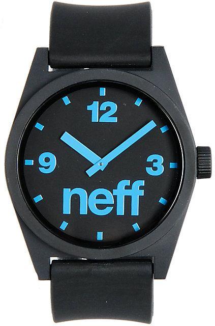 Neff Daily Black & Cyan Corpo Analog Watch ($29.95) | Zumiez