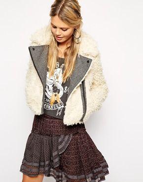 Shaggy Faux Fur Cropped Jacket -