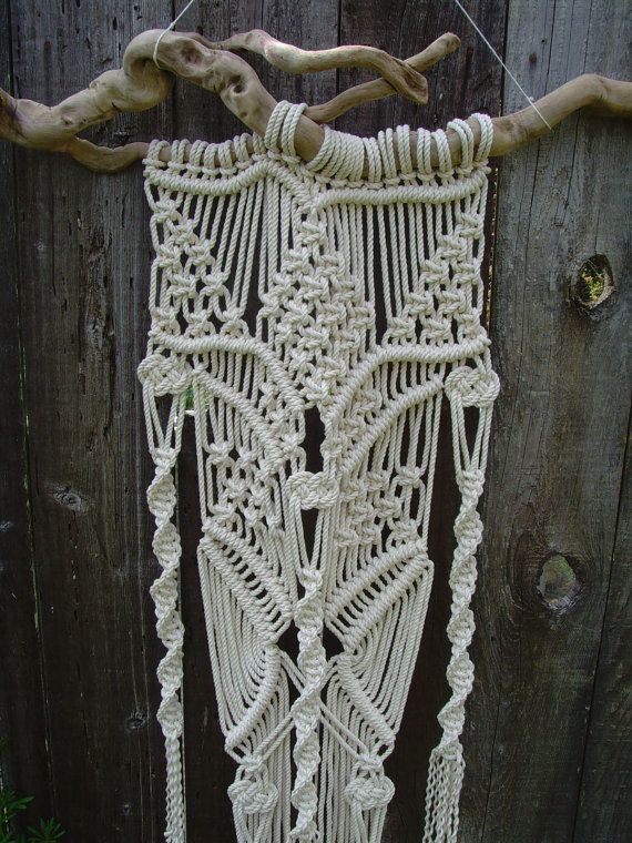Large Macramé Wall Hanging by FreeCreatures on Etsy