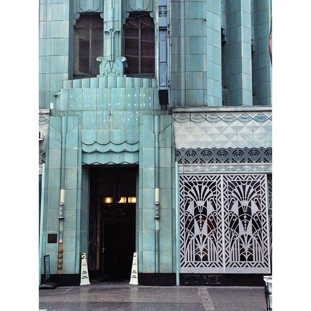 Art Deco LA: Side Entrance Wiltern Theater Complex Los Angeles (Korea Town) (at…